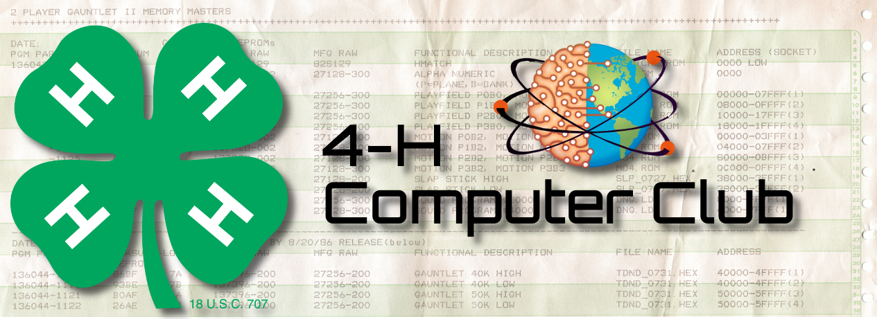 4-H Computer Club WordPress Banner